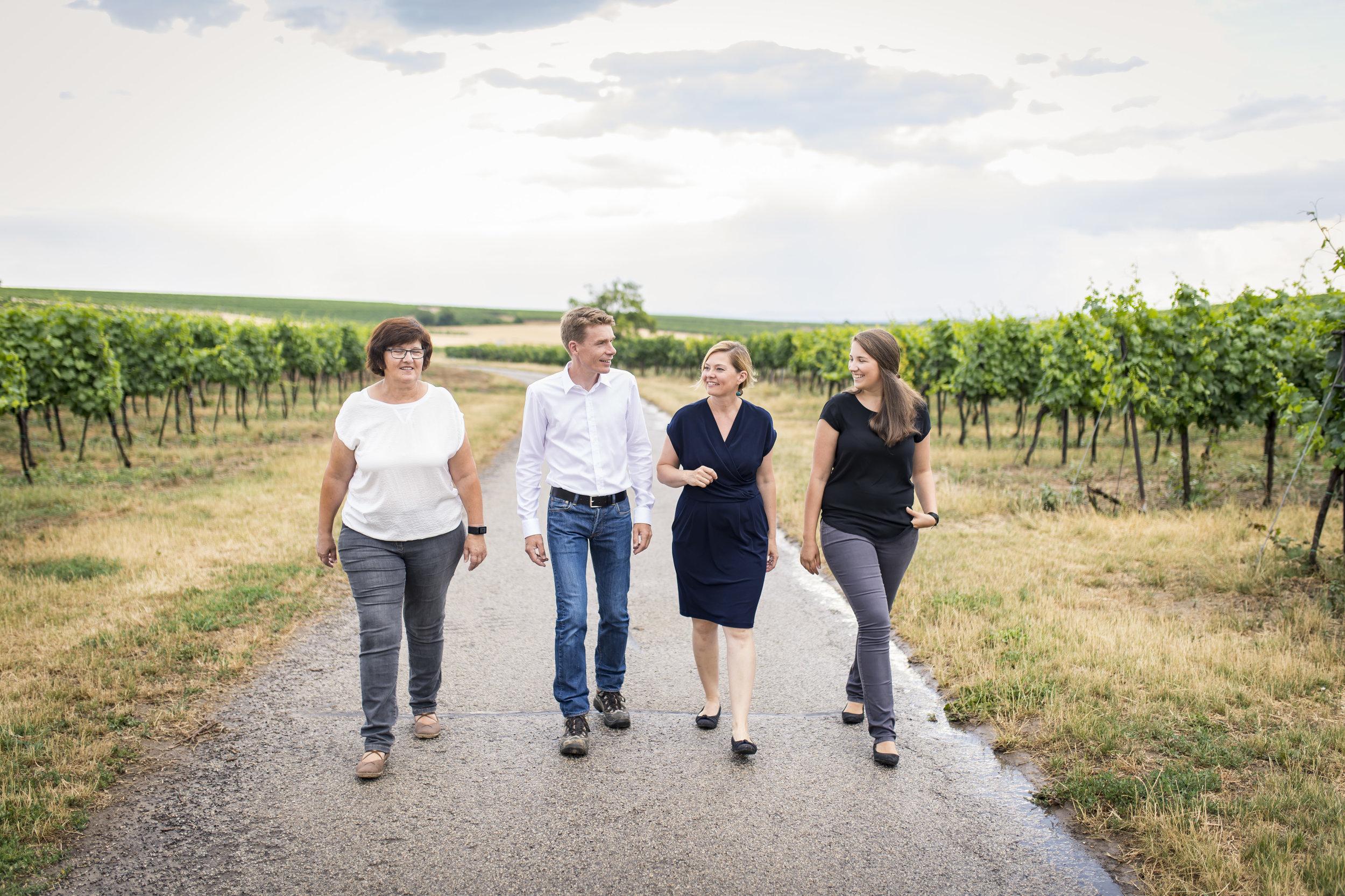 Johanna, Harald, Daniela & Katrin Frank