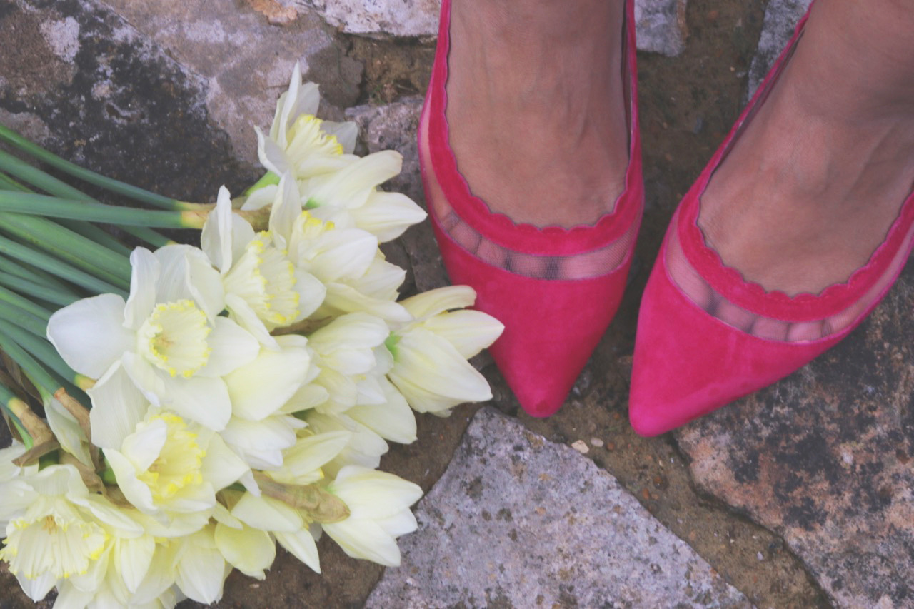 Dr Rai's much loved pink shoes.