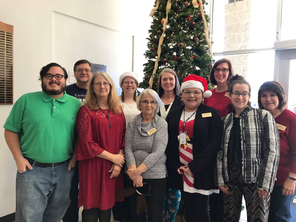 The library staff at the Holiday Open House 2017