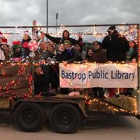 The teens helped decorate the library's float for the Lighted Christmas Parade.