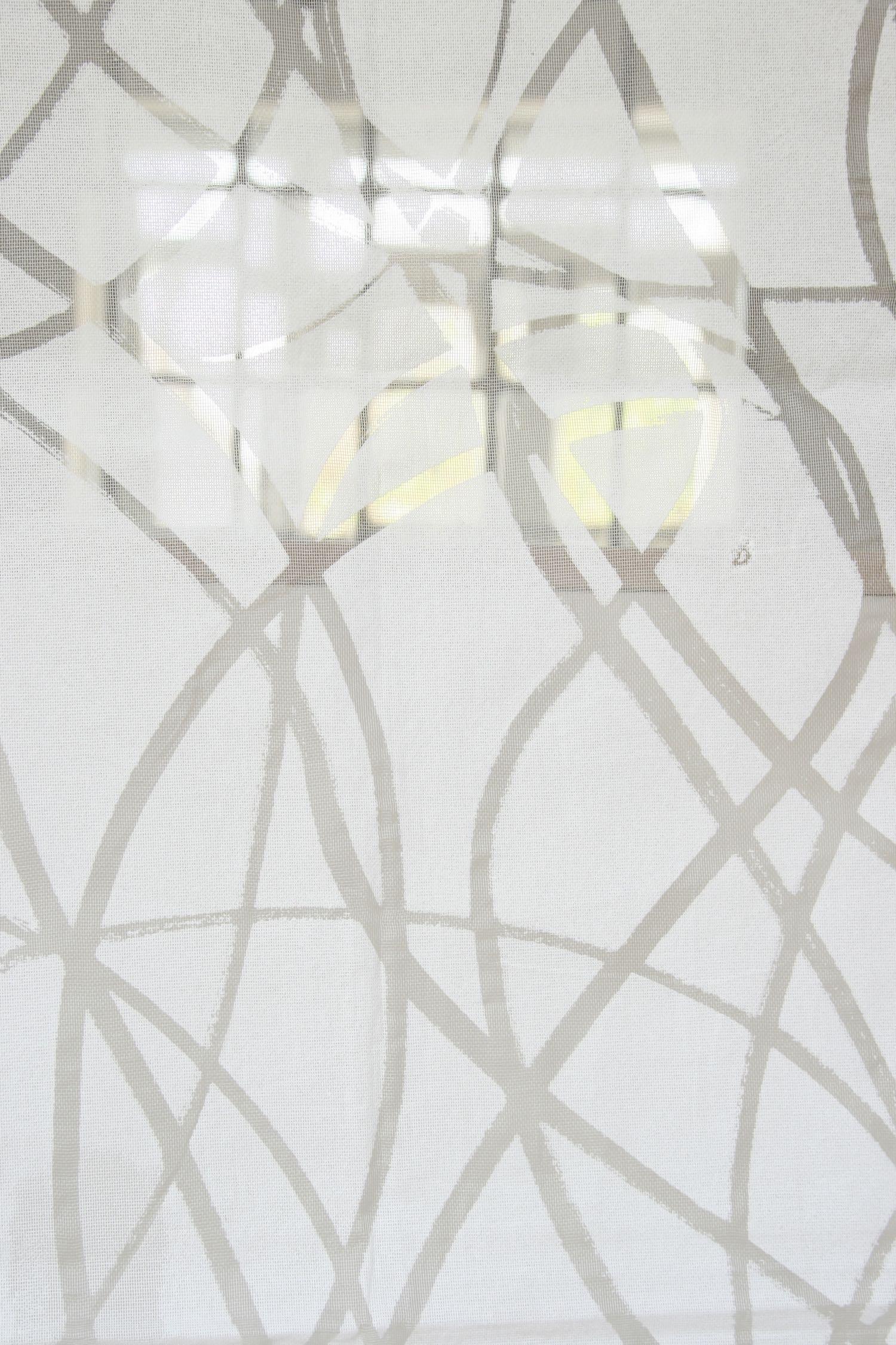 Entwine   Hand screen printed, silk gauze
