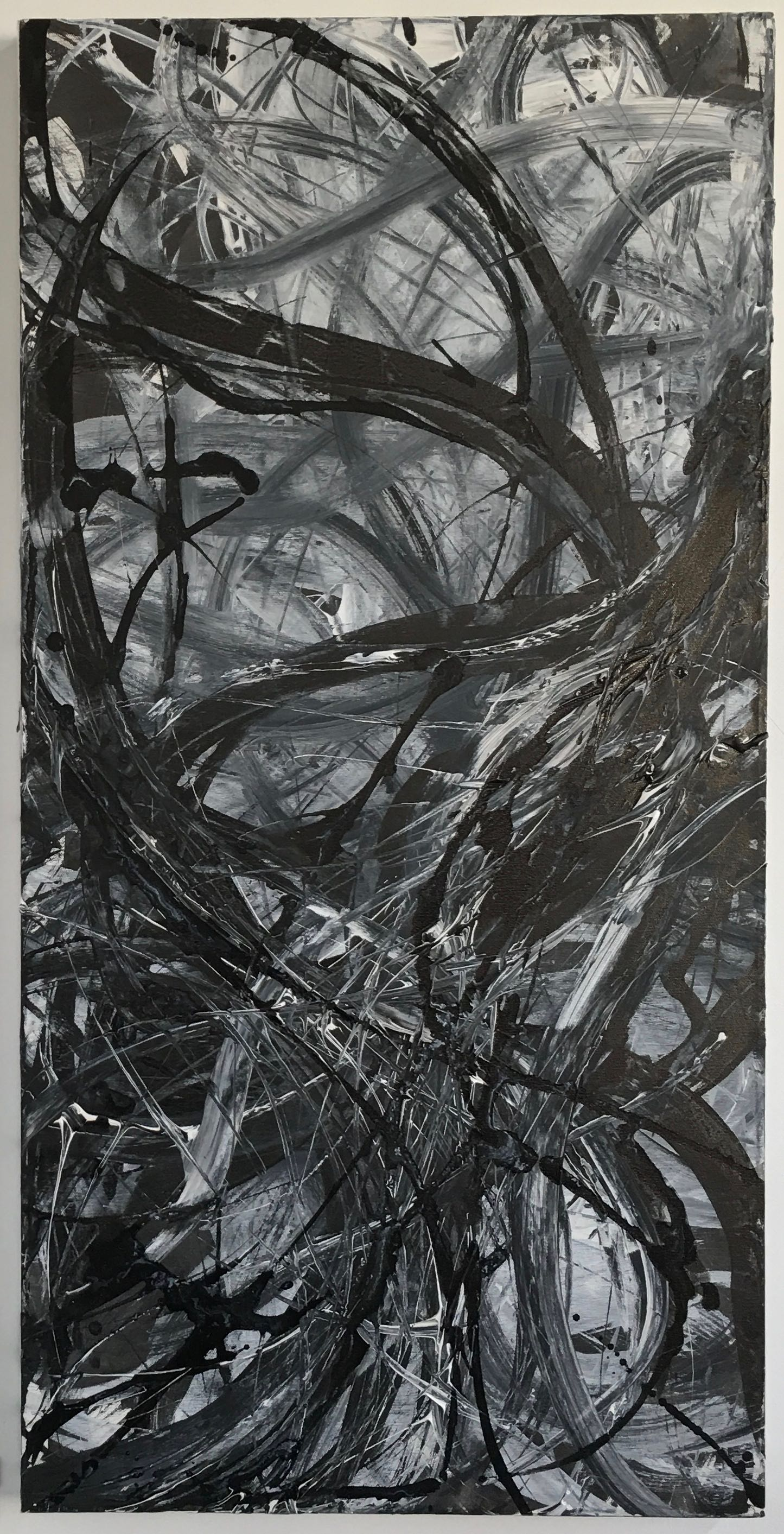 Entwine   Acrylic paint on canvas, 100cm x 50cm, 2004. Private Collection