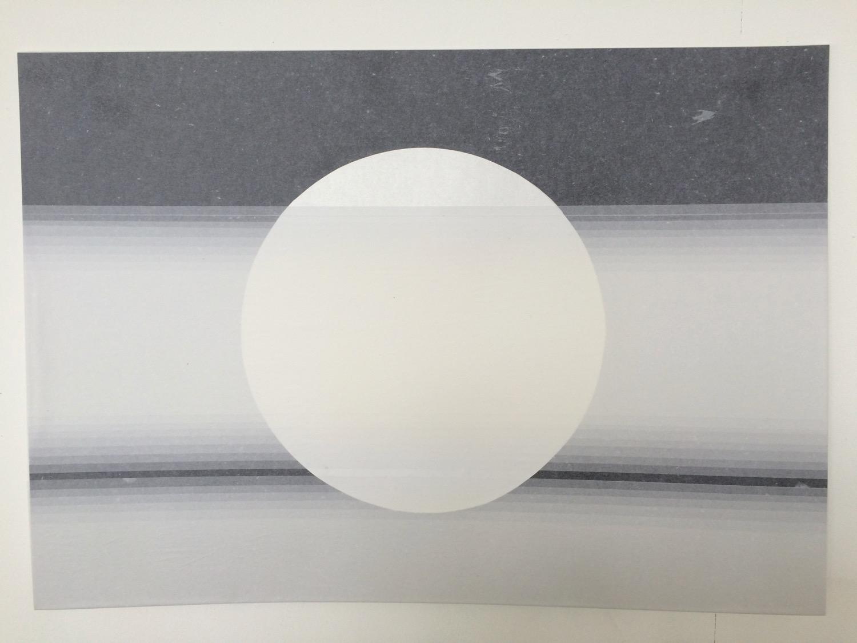 Circle Transition   Tissue on paper,51cm x 70cm, 2015