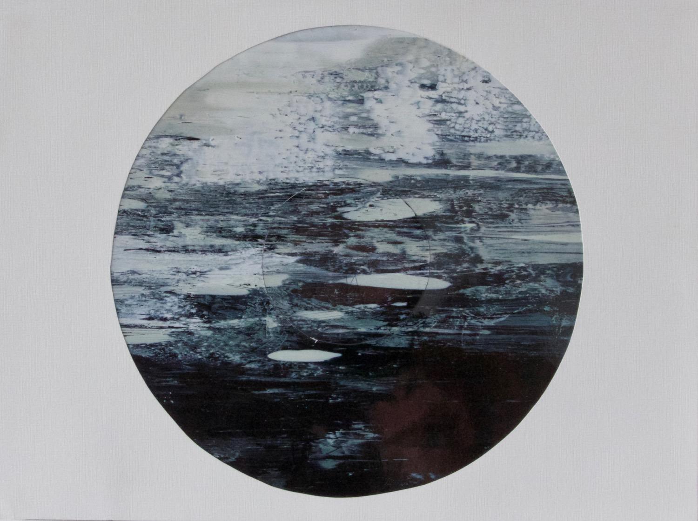Moon   Acrylic on high gloss card, 51cm 70cm