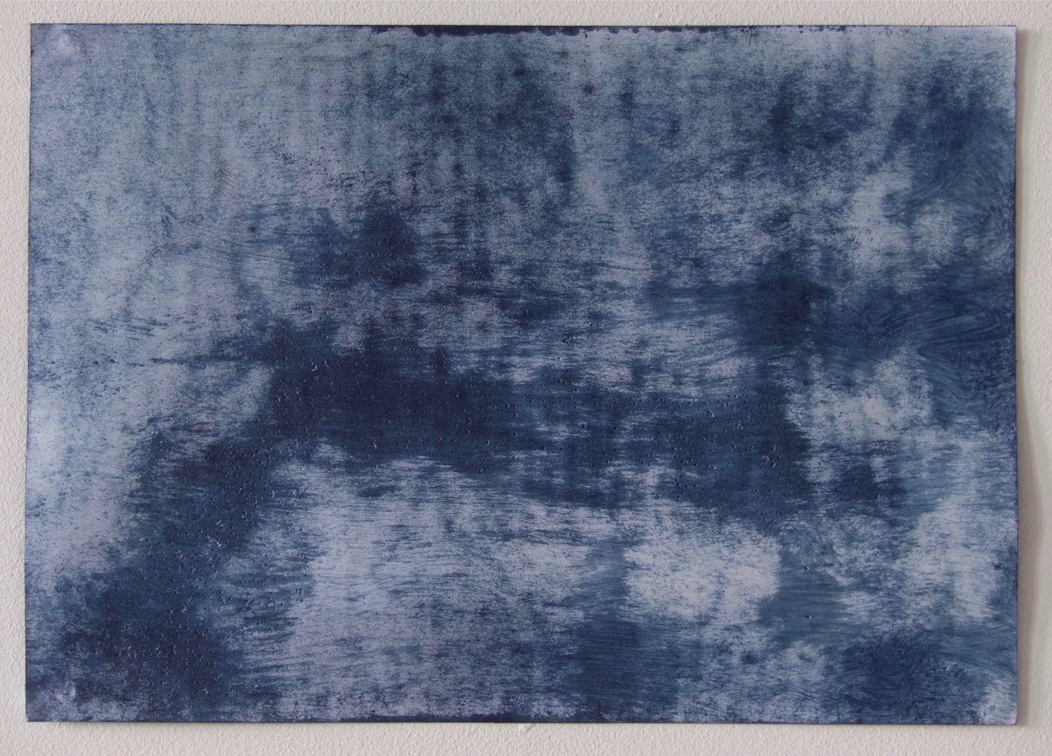 Like Clouds     Hand painted Indigo on paper          ,         MERGEFIELD Size       21cm x 29.5cm          ,   2017