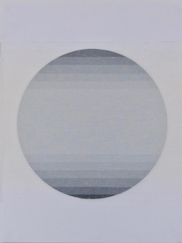 Circle Transition   Tissue on high gloss black card, 30.5cm x 38.5cm, 2015