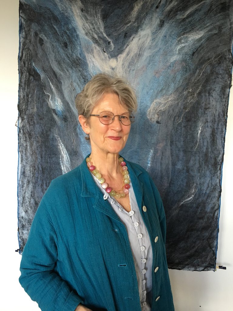 Sarah Anderson - Nightwave felted tapestry  Studio 46, 25.06.16, digital image