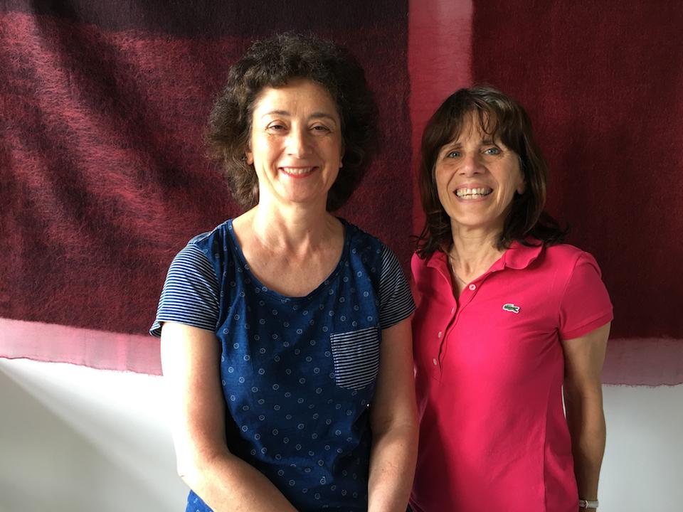 Korinna Pilafidis-Willians & Judy Lynn - Cochineal felted tapestry  Studio 46, 26.06.16, digital image