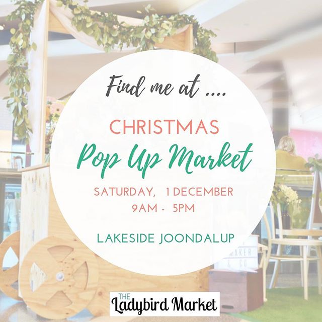 Looking for a special gift? Find us @theladybirdmarket this Saturday 1st December at lakeside #joondalup shopping centre. #perthisok #supportlocal #perthlife #naturalskincare #perthcity #perthmarkets #handmade #giftideas #christmasshopping #specialgift #moisturizer #essentialoils