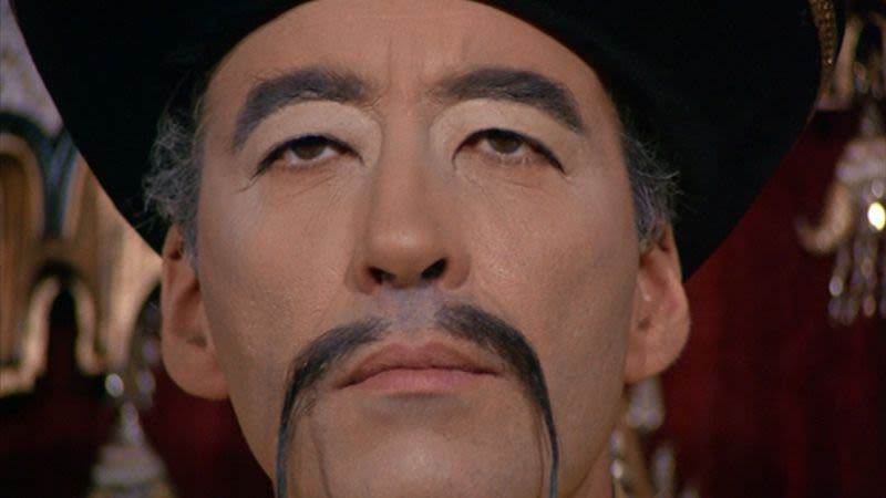 "English actor Christopher Lee in ""The Face of Fu Manchu"" 1965"