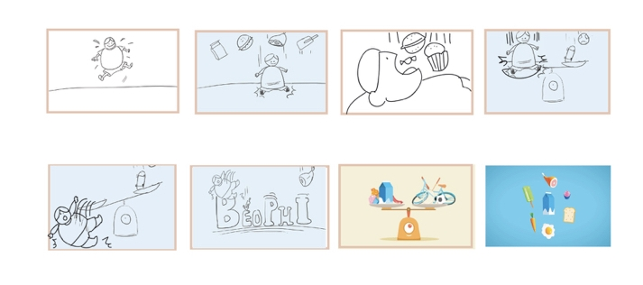 The storyboard was made simple to demonstrate the idea.