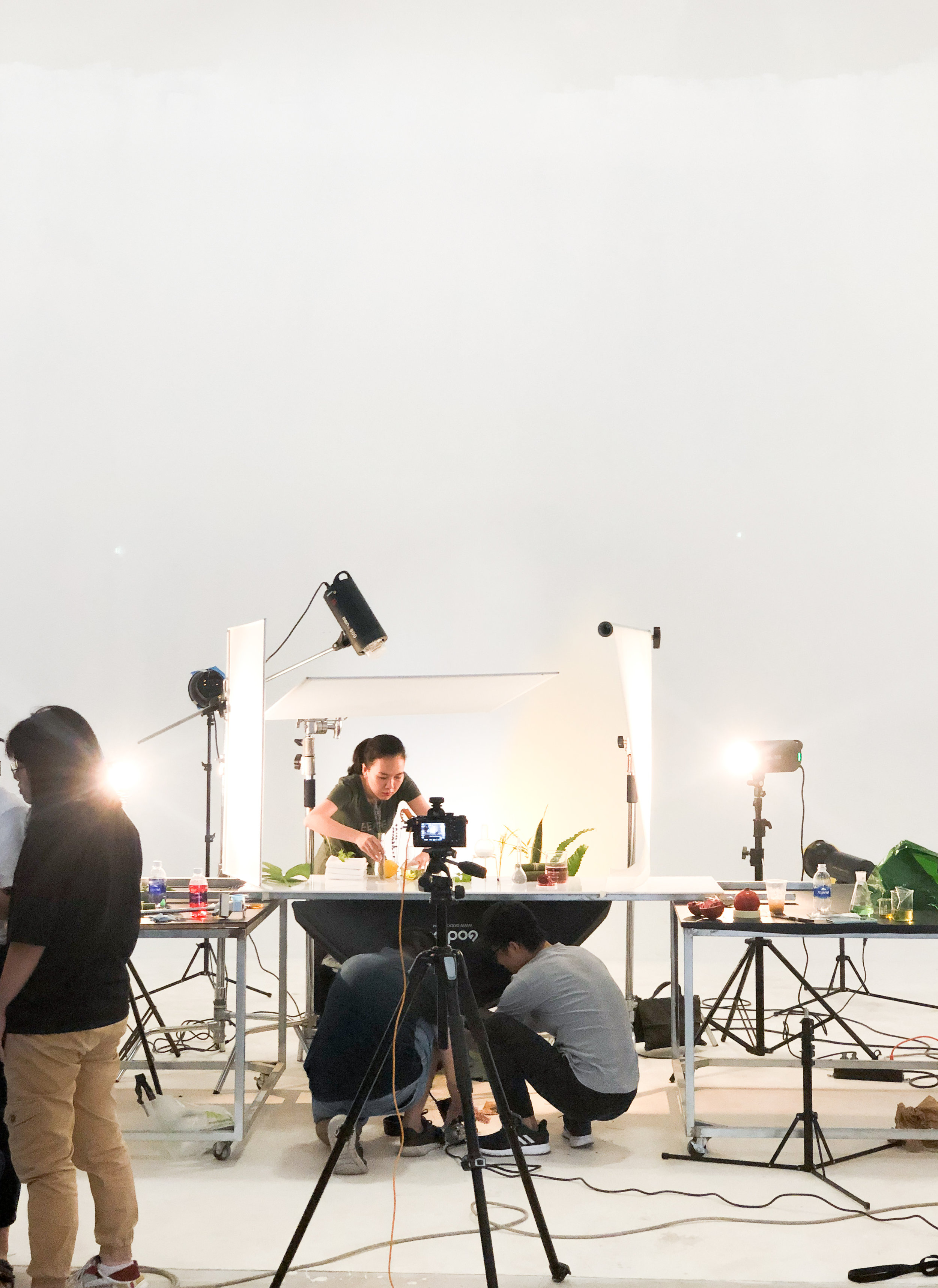 Shooting other elements in a studio.