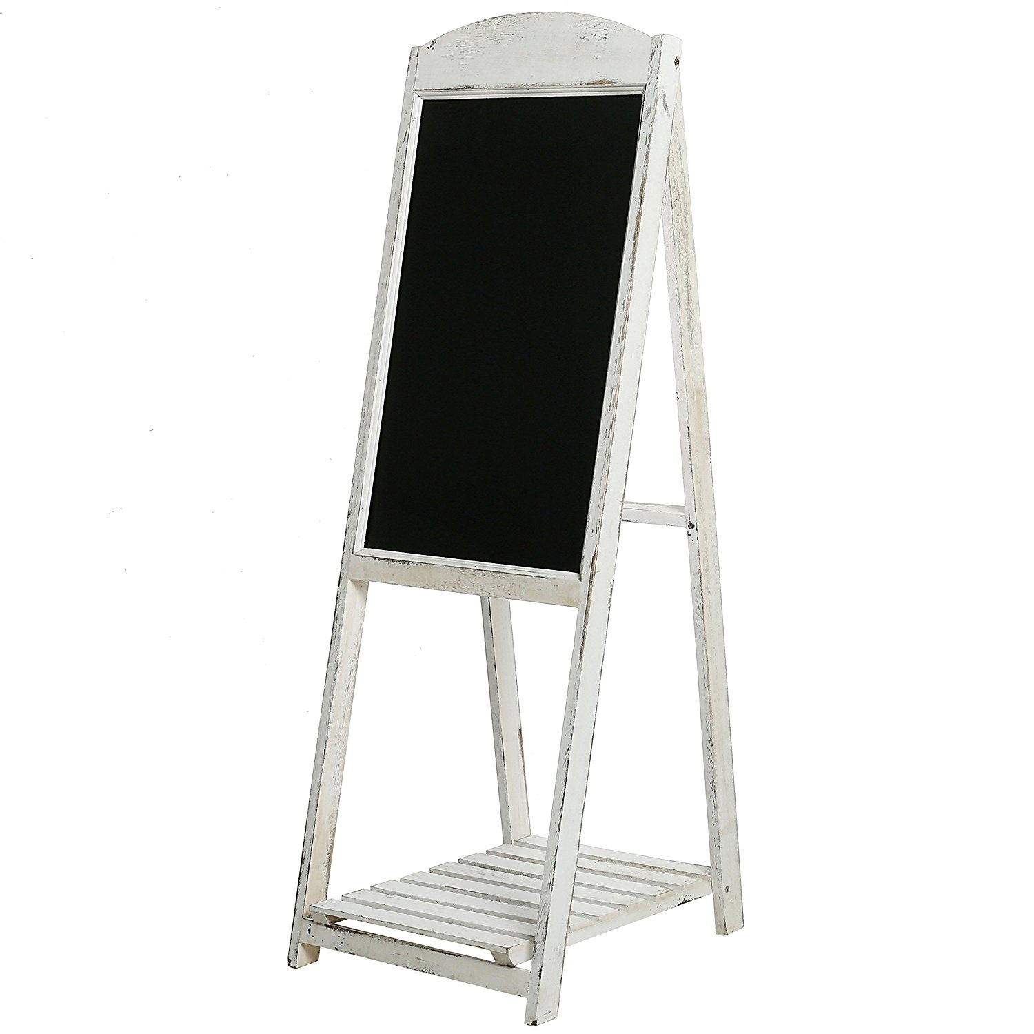 "Vintage White halk board easel   size- 45""  Price: $25.00  Inquire about quantity and availability."