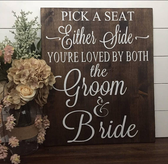 "wooden seating sign   Dimensions: 36""Hx20""W  material: Wood  Price: 12.00  *inquire about quantity and availability"