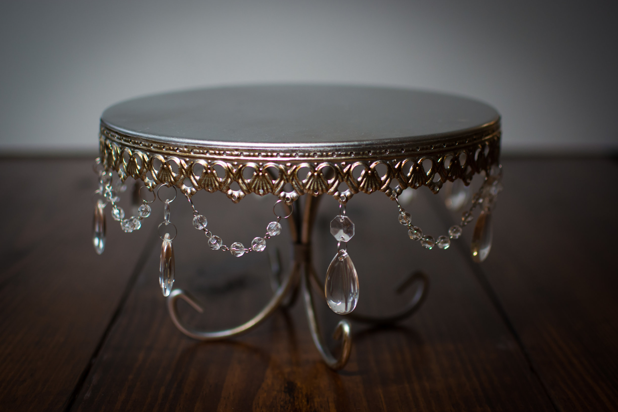 decorative Cake Stand   Price: $12.00  Inquire about quantity and availability.