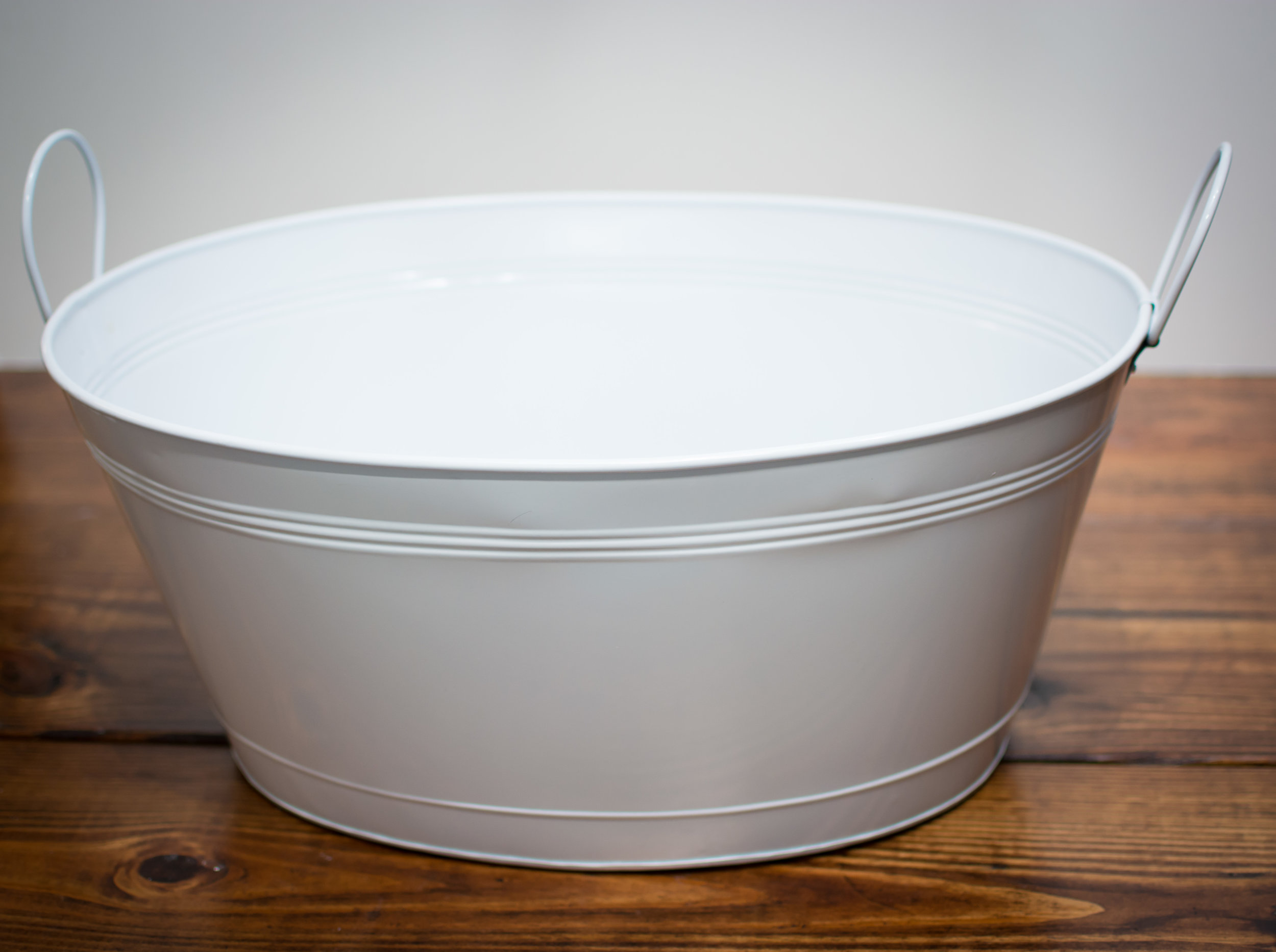 Large size white beverage tub   Price: $12.00 Each  Quantity Available: 4