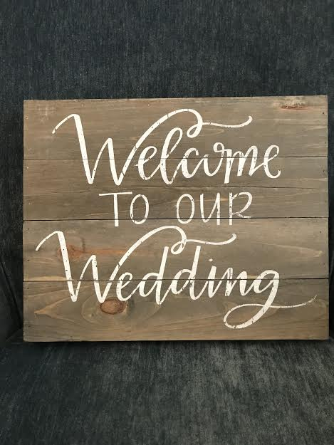 "wooden Welcome sign   Dimensions: 10""Hx13""W  material: Wood  Price: 6.00  *inquire about quantity and availability"