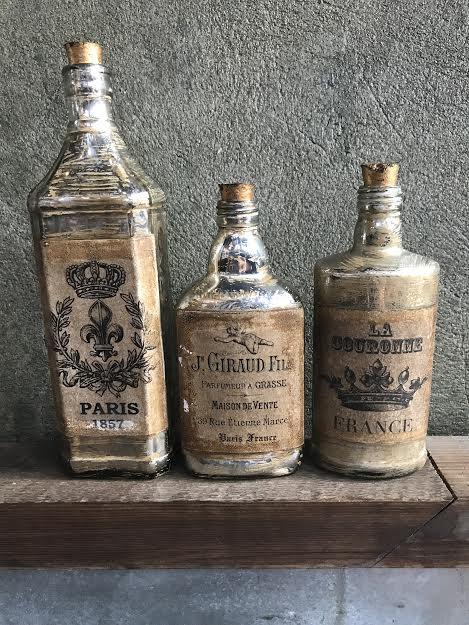 Vintage French Bottles   Price:$15.00 Set of 3