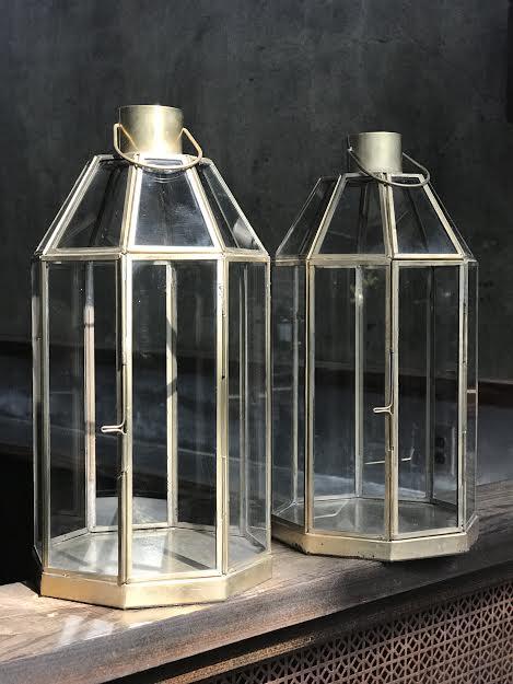 Set of 2 Modern Metal Lanterns   Price:$10.00/ Set
