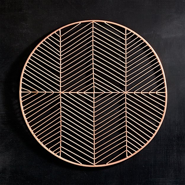 Rose Gold Wire Charger   $3.75 Per Plate