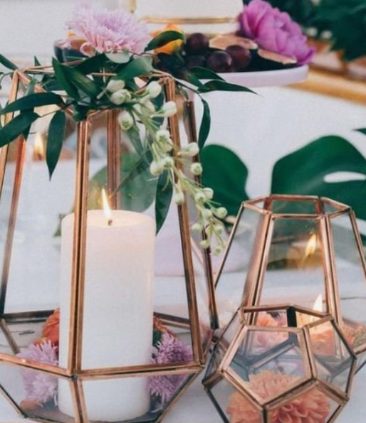 Brass GEOMETRIC Terrariums   Various styles and sizes available   Inquire about Pricing, Quantity and Availability