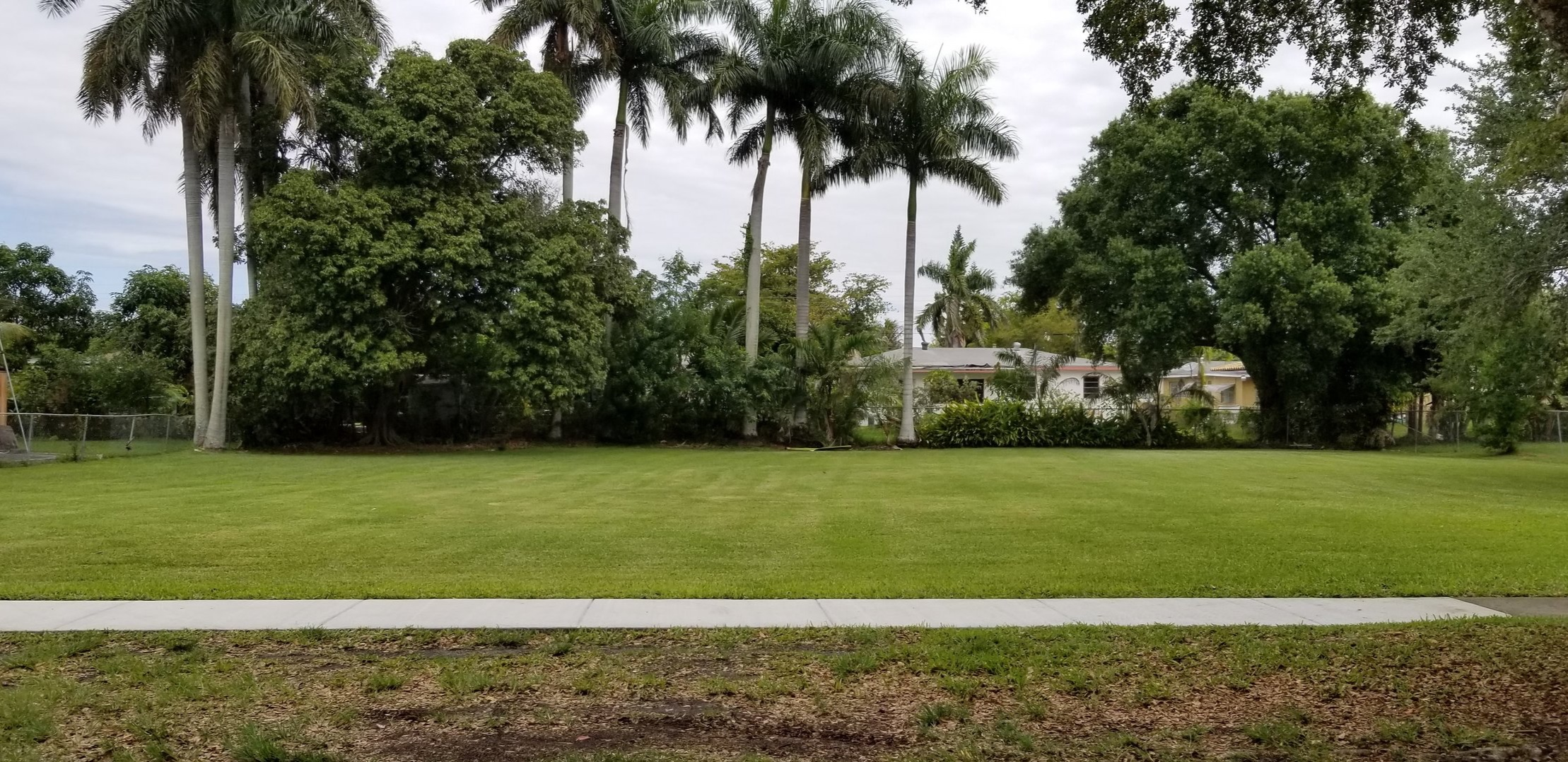 This vacant lot (designated a repetitive loss property) in a City of North Miami neighborhood is being redesigned.