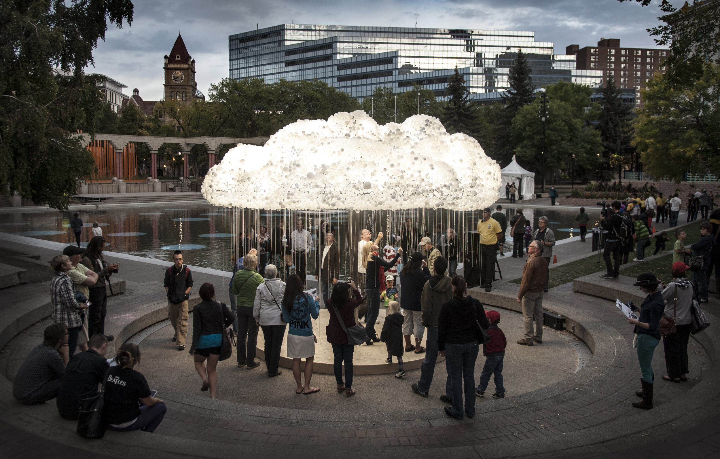 Original CLOUD sculpture by Caitlind r.c. Brown and Wayne Garrett.  Photo Credit: Mitch Kern.
