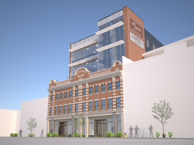 The proposed final look of the Brighton Block when fully restored with additional office space. Photo credit PRIMAVERA.