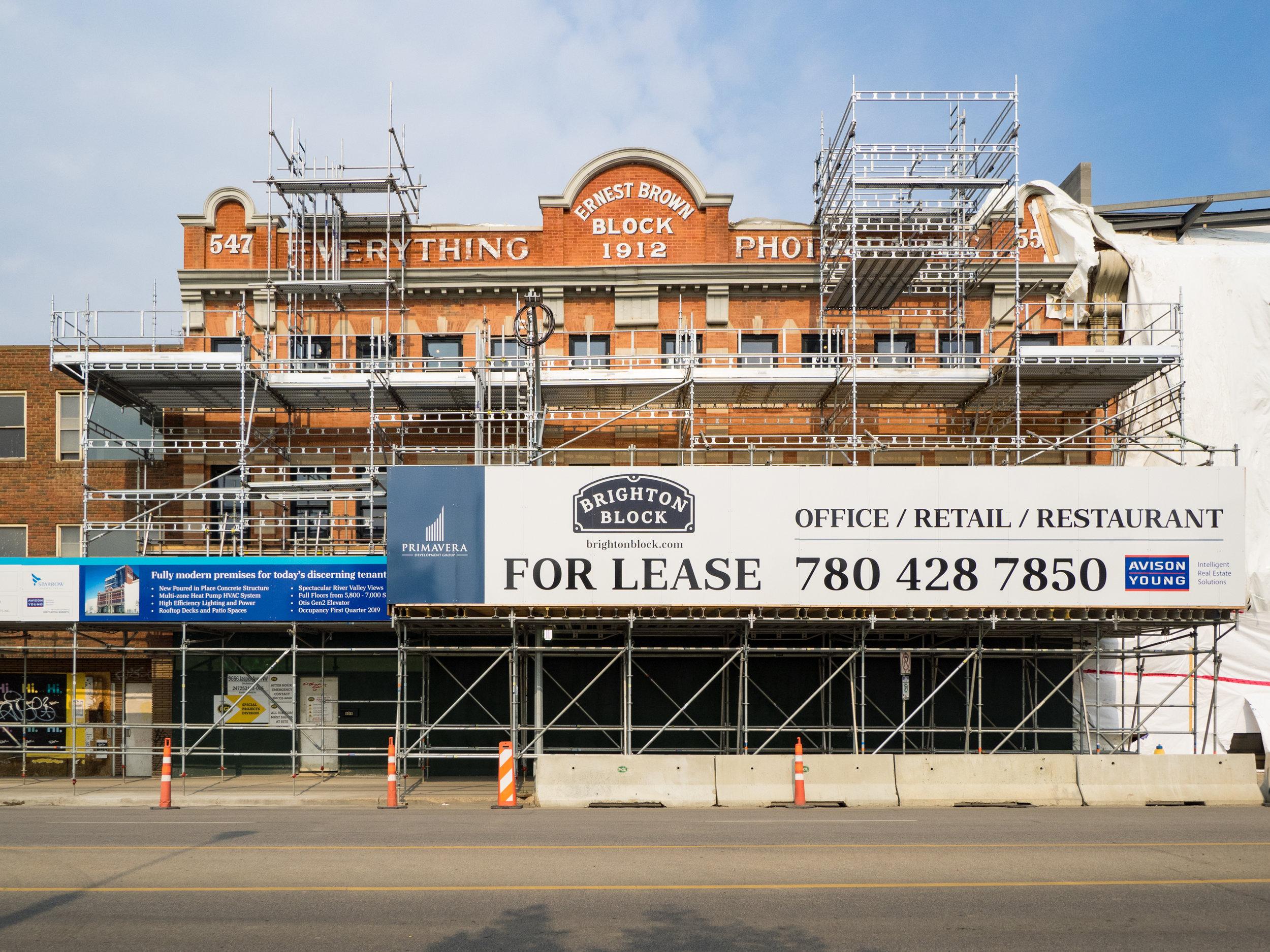 Brighton Block on Jasper Avenue, photo by Dave Sutherland