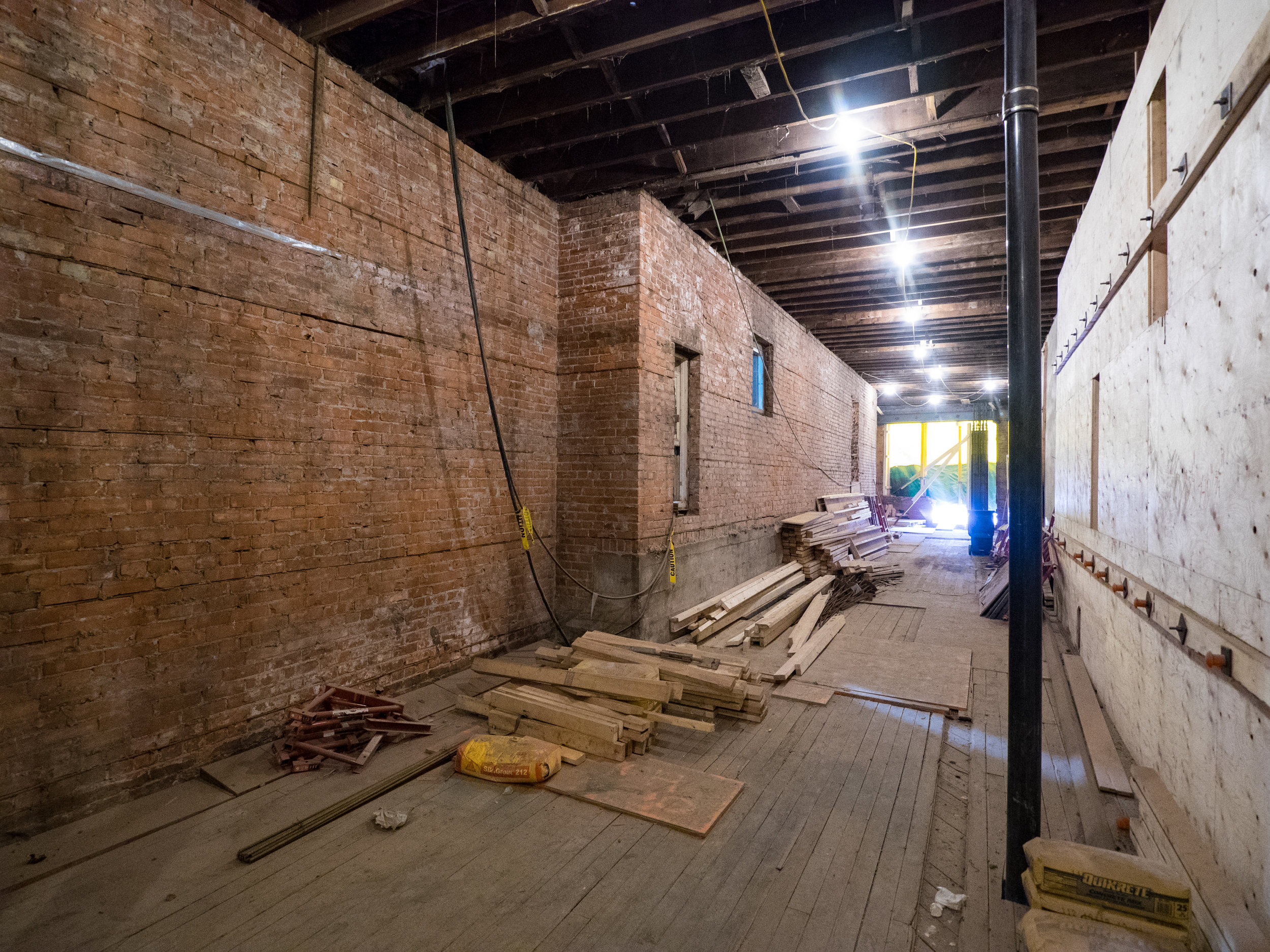 Inside the older of the two building halves, photo by Dave Sutherland