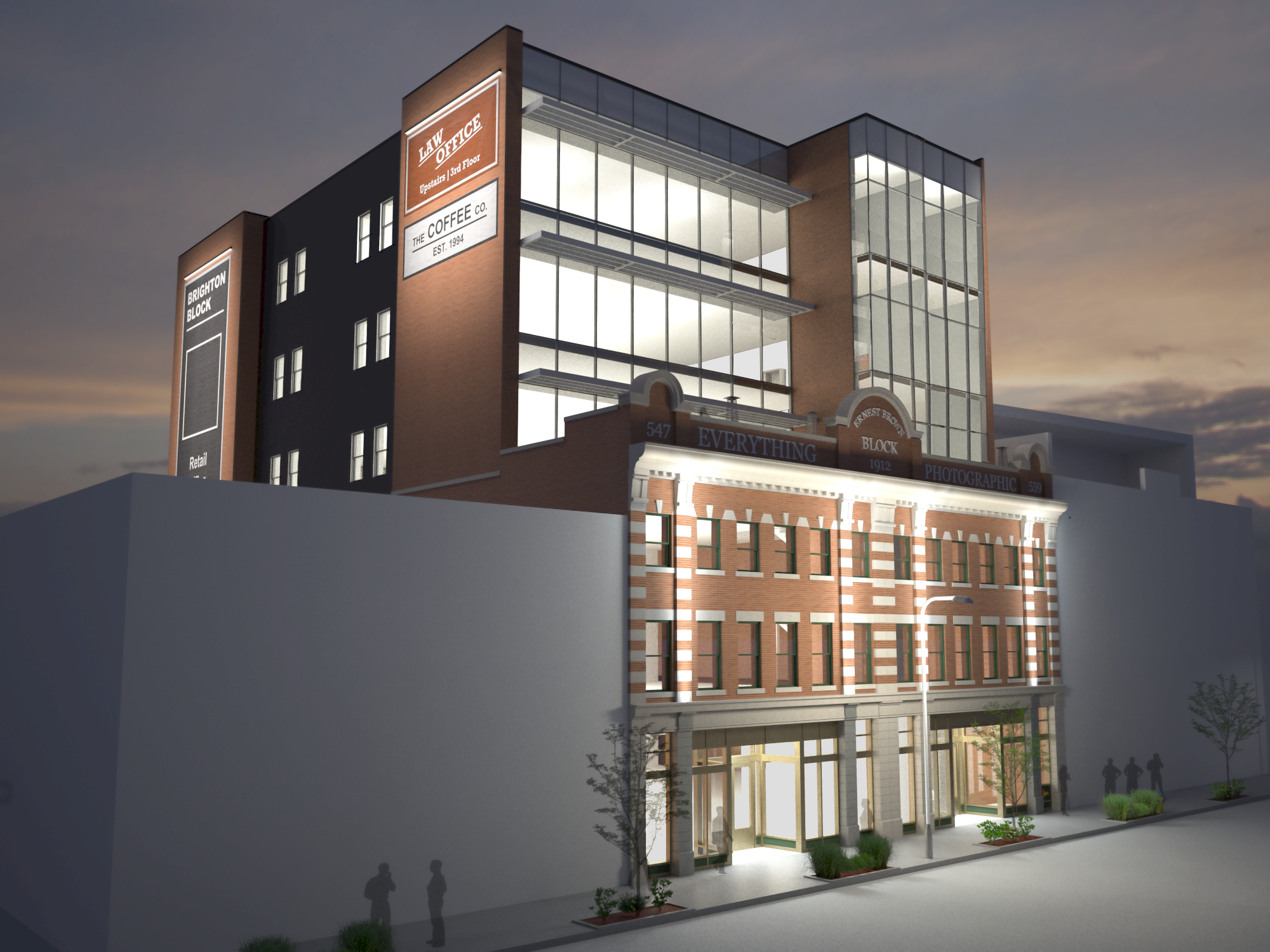 Rendering of the finished redevelopment, image courtesy of Primavera Development Group.