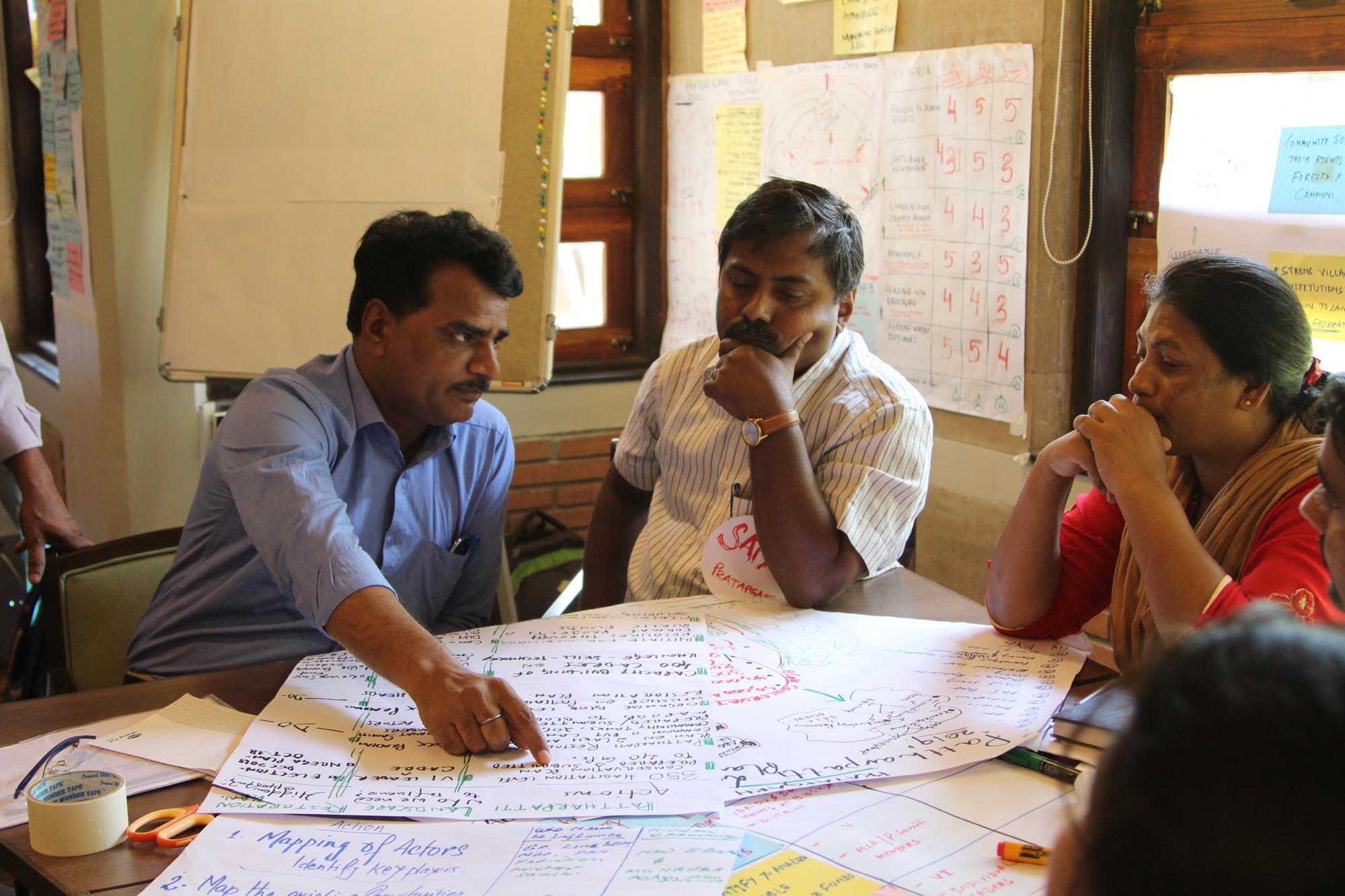 Debating options at a FES workshop, April 2018