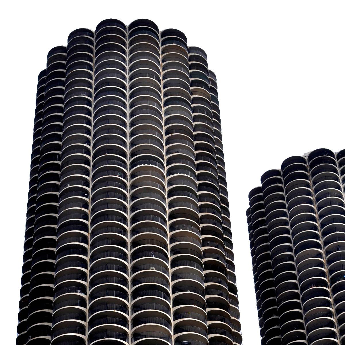 The iconic Marina City towers in Chicago. Designed by Bertrand Goldberg