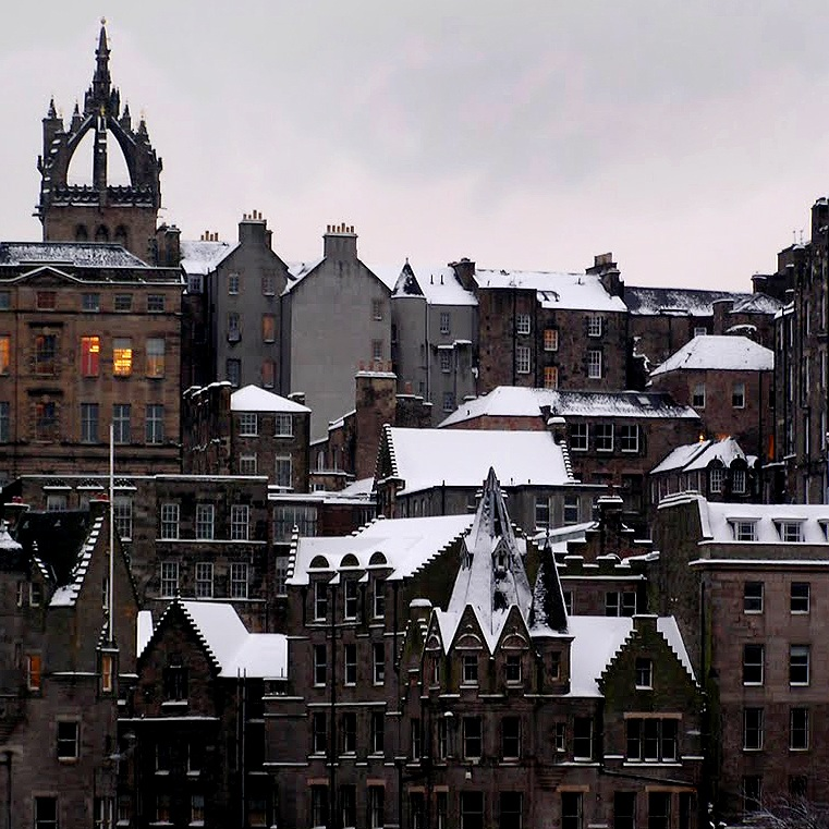 Edinburgh Old Town from Princes Street Gardens