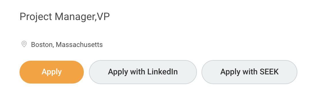 Sample of Applying with LinkedIn