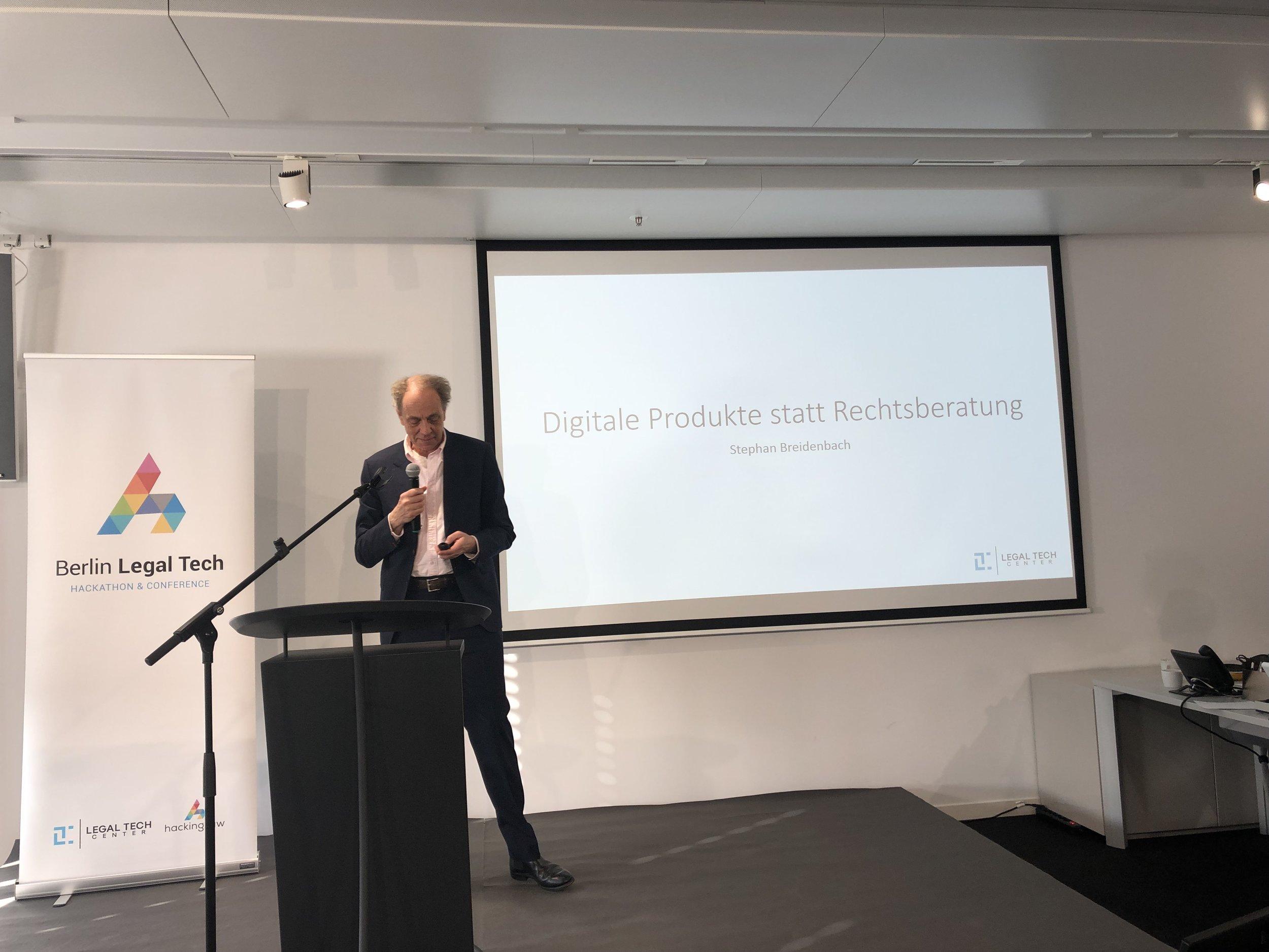 Stephan Breidenbach @ Berlin Legal Tech 2019