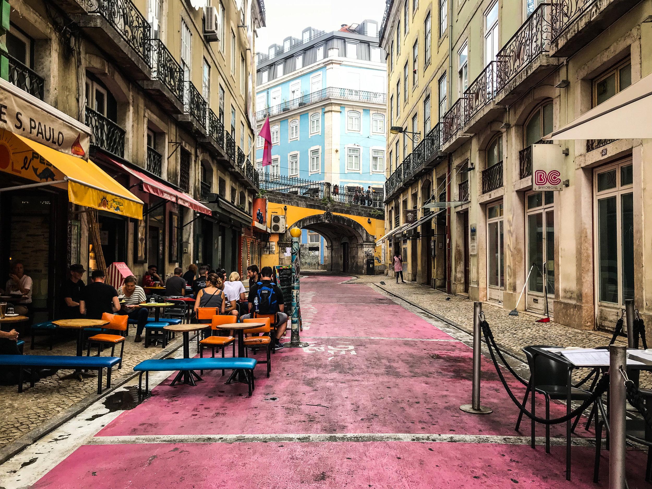 Pink Street - Lisbon