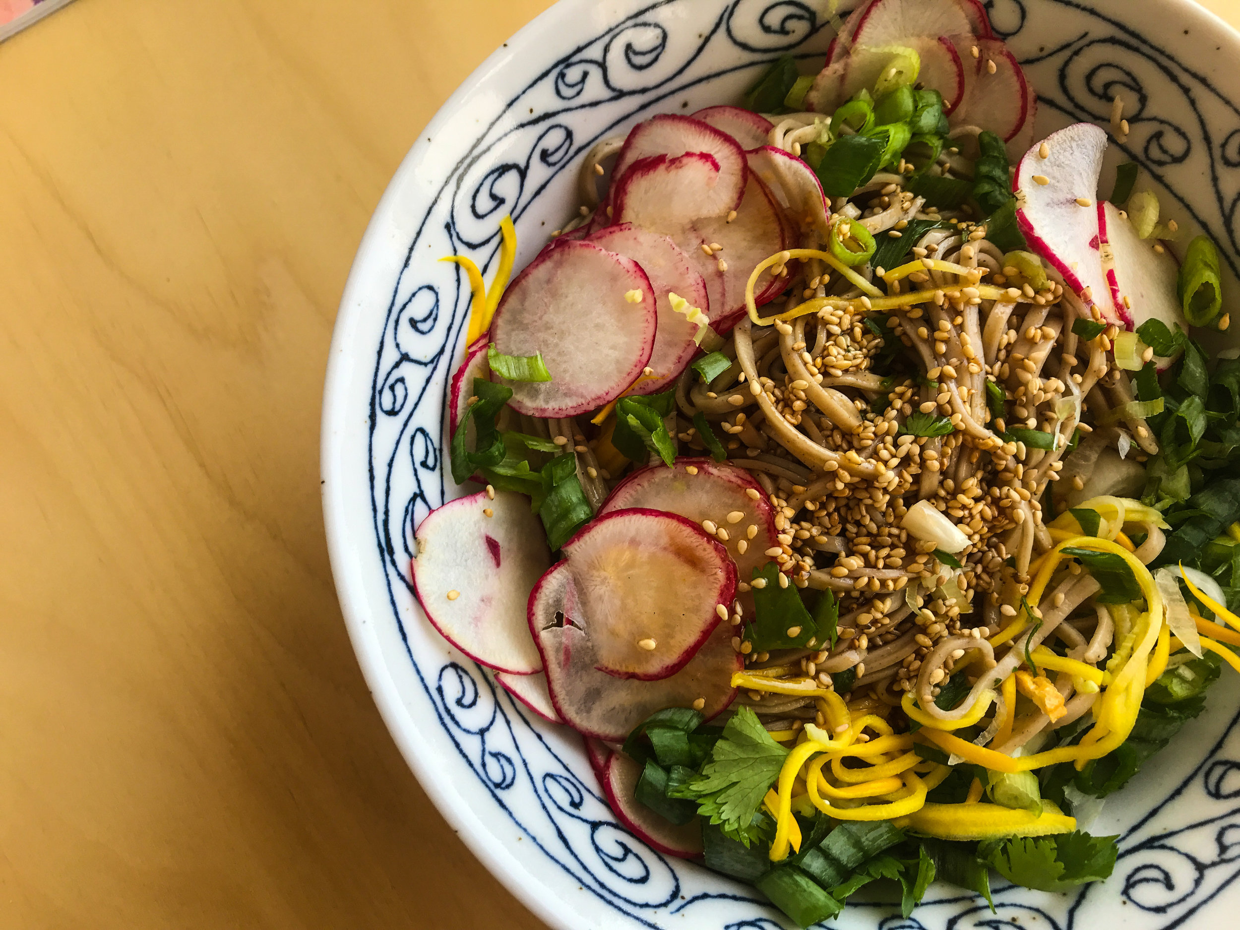 SPICY SUMMER SOBA NOODLE SALAD - #SIAintheKitchen