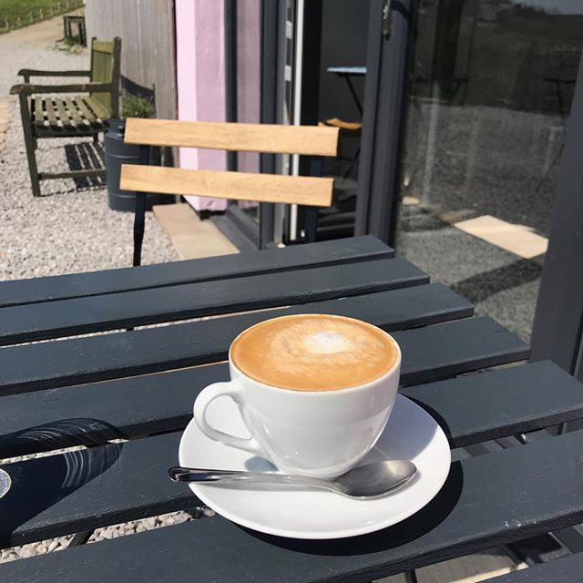 Too hot for coffee today really - but it's sooo nice- and the views are awesome #coffee #glamping #rossendale #relaxing #nespresso #cappuccino #cafebar #maysunshine #RHC #escapethecity # countryside 🌿🌿🌿🌿