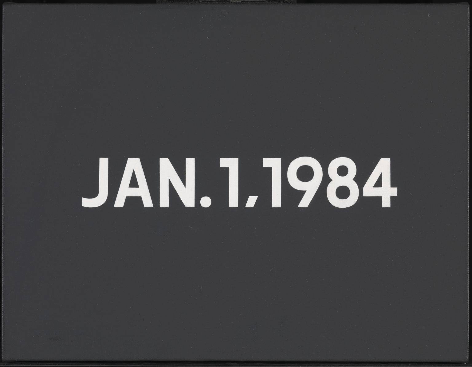 On Kawara - Jan.1.1984