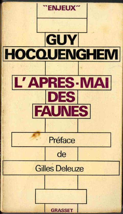Guy Hocquenhem - L'Après-Mai Des Faunes