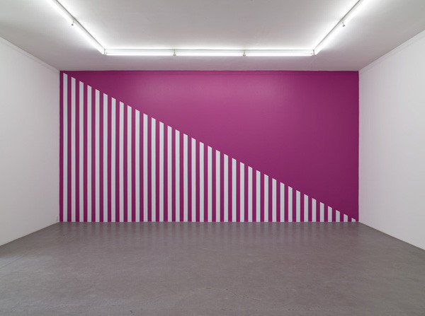 Daniel Buren - A Diagonal for a Rhodamine Red