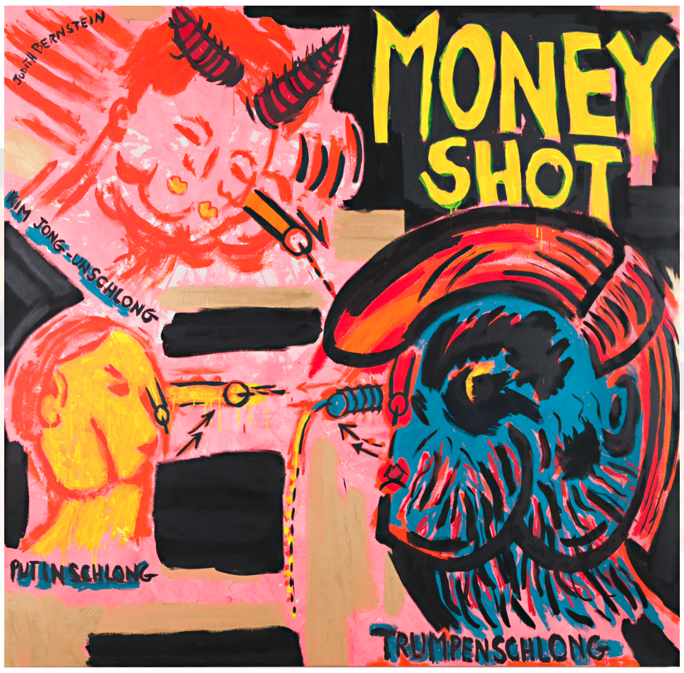Judith Bernstein - Money Shot Blue Balls