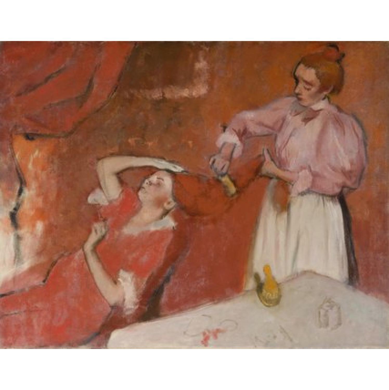 Edgar Degas - Combing the hair