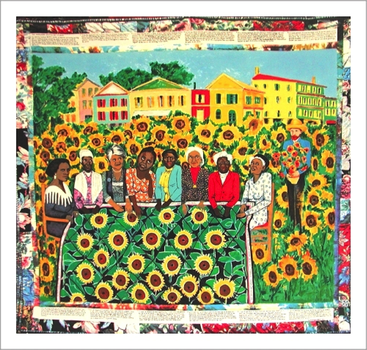 Faith Ringgold - The Sunflower Quilting Bee at Arles