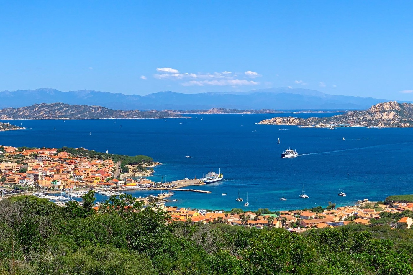 Port town and ferries to nearby Maddalena island