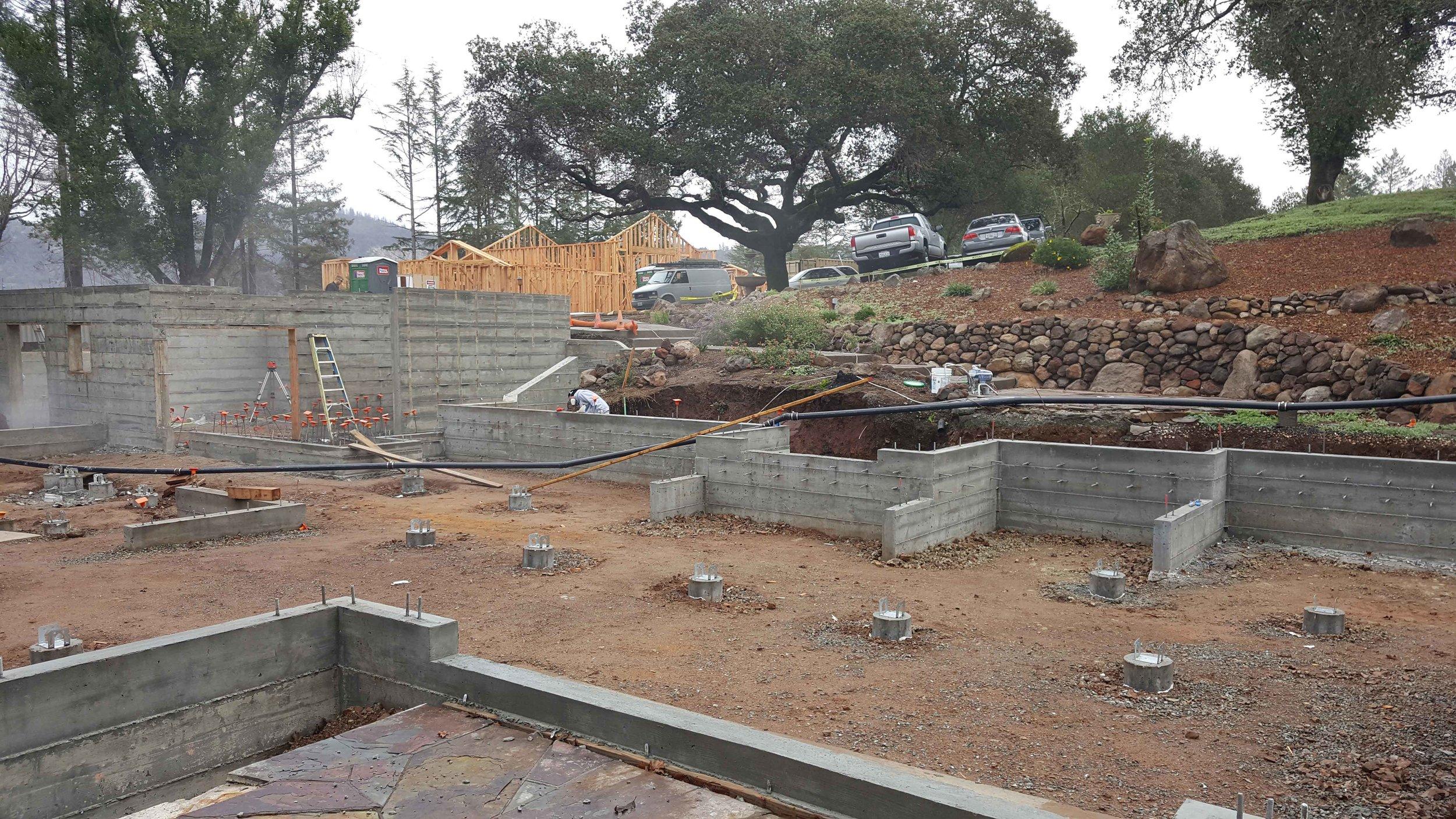 Foundation taking shape.