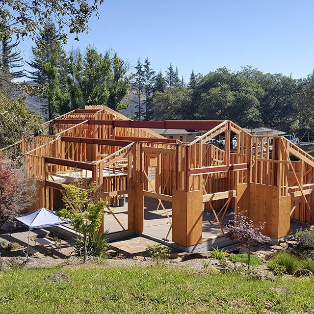 One of our fire rebuid projects under construction. #redmaplearchitects #kenbermanart #sonomacounty #new #house