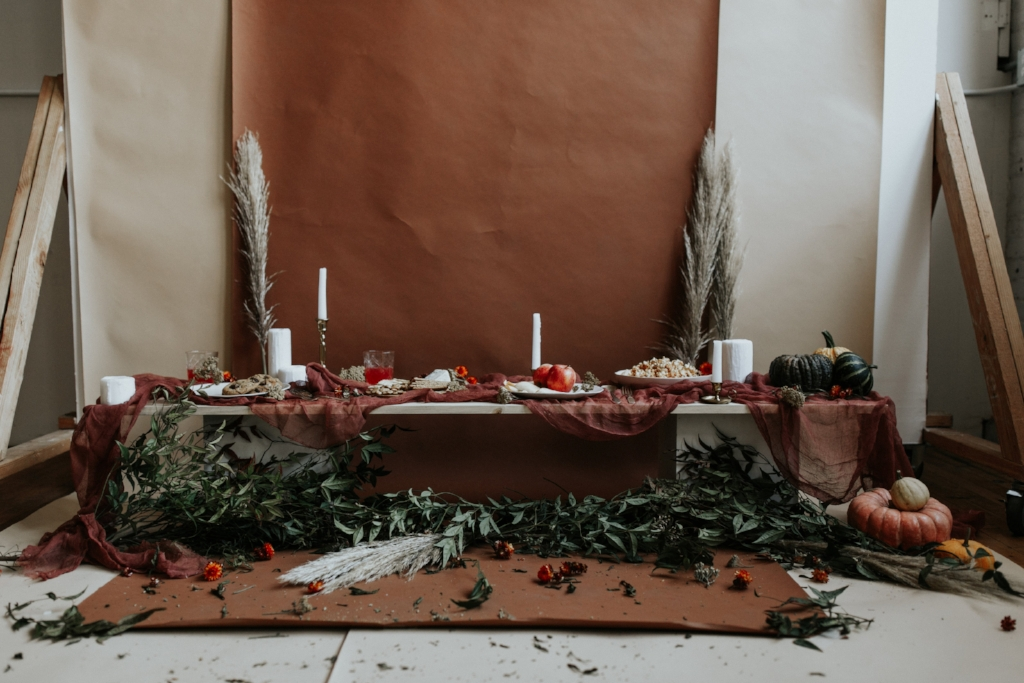 Live Botanical Fall Tablescape Content Creation 03