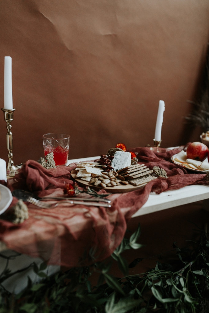 Live Botanical Fall Tablescape Content Creation 09